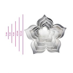 "Set 5 Cookie Cutters ""Lily"""