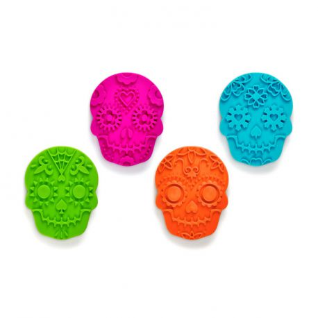 """Set 4 Cookie Cutters """"Skull"""""""