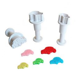 "Set 3 Plunger Cutters ""Cars"""