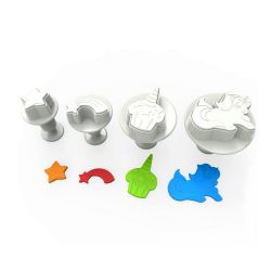 "Set 4 Plunger Cutters ""Unicorn"""