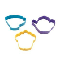"Set 3 Cookie Cutters ""Tea Party"""