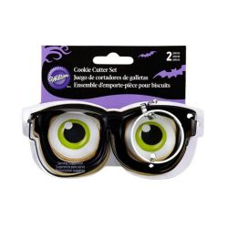 "Set 2 Cookie Cutters ""Eyeglasses & Eyeball"""