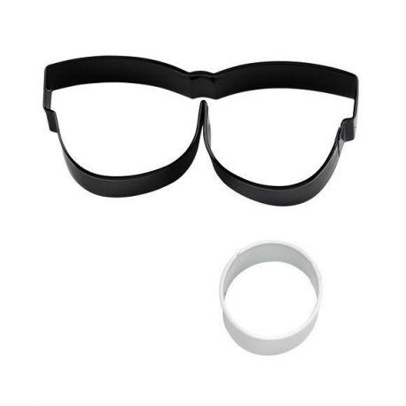 """Set 2 Cookie Cutters """"Eyeglasses & Eyeball"""""""