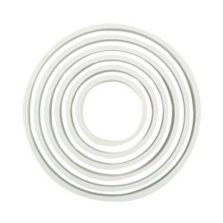 "Set 6 Cookie Cutters ""Circle"" - PME"
