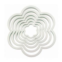"Set 6 Cookie Cutters ""Flower"" - PME"