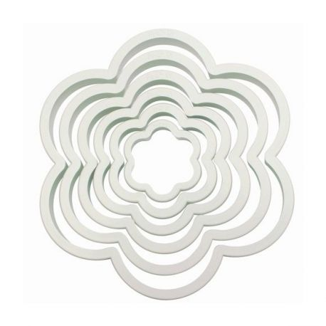 """Set 6 Cookie Cutters """"Flower"""" - PME"""