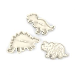 "Set 3 Cookie Cutters ""Dinosaur Fossil"""