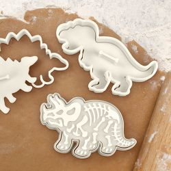 """Set 3 Cookie Cutters """"Dinosaur Fossil"""""""
