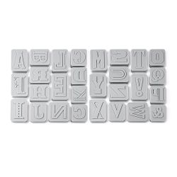 "Set 28 Cookie Cutters ""Letters"" - K.C"