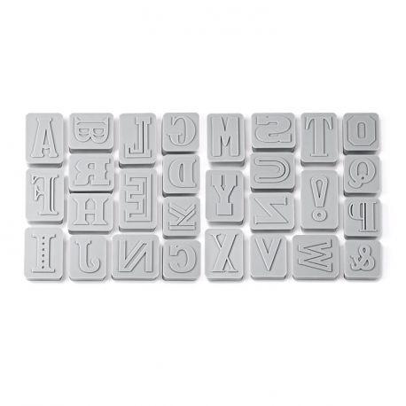 """Set de 28 emporte-pièces """"Lettres"""" - K.C"""