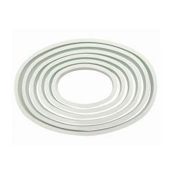 "Set 6 Cookie Cutters ""Oval"" - PME"