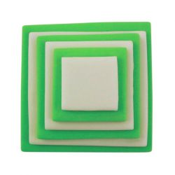 "Set 6 Cookie Cutters ""Square"" - PME"
