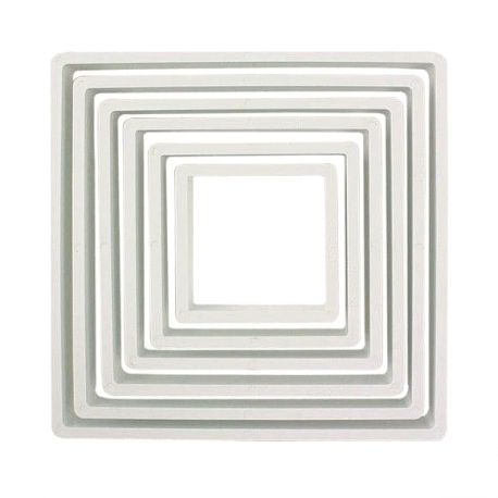 "Set 6 Cookie Cutters ""Square"" - PME"