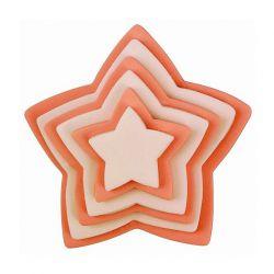 "Set 6 Cookie Cutters ""Star"" - PME"