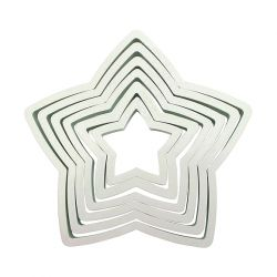 "Set 6 Cookie Cutters ""Star"" - PME"