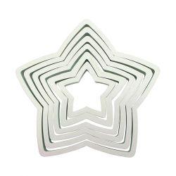 """Set de 6 cortadores """"Estrella"""" - PME"""