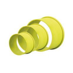 "Set 3 Cookie Cutters ""Round Plain"" - silicone"