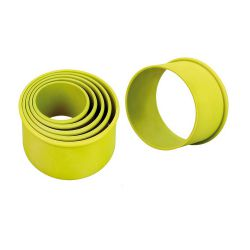 """Set 3 Cookie Cutters """"Round Plain"""" - silicone"""