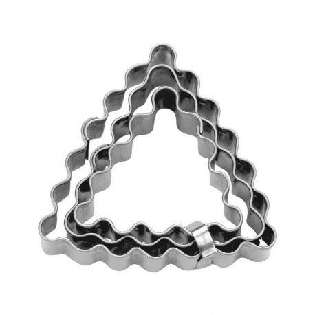 """Set 3 Cookie Cutters """"Triangle"""" - Fluted"""