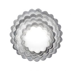 "Set 5 Cookie Cutters ""Flower"" - Fluted"