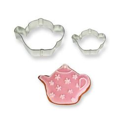 "Set 2 Cookie Cutters ""Teapot"""