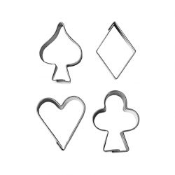 "Set 4 Cookie Cutters ""Card Suits"""