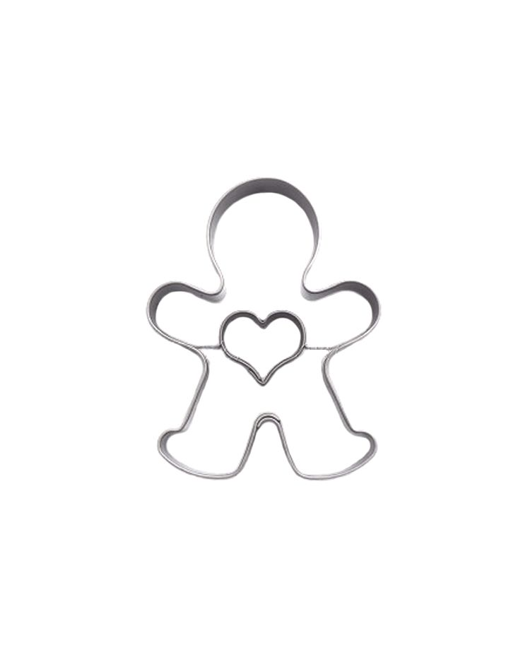 "Cookie Cutter ""Gingerbread Man with Heart"""