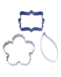 "Set 3 Cookie Cutters ""Floral"""