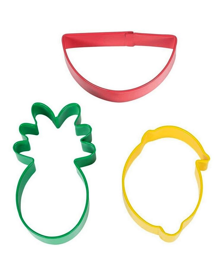 "Set 3 Cookie Cutters ""Tropical"""