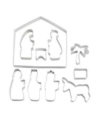 """Set 10 Cookie Cutters """"Holy Family""""  - 4-19cm"""