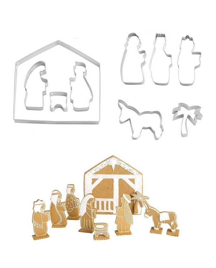 """Set 10 Cookie Cutters """"Holy Family"""""""