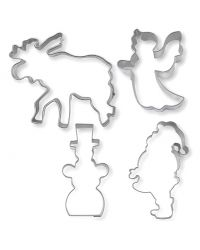 """Set 4 Cookie Cutters """"Christmas bakery"""" - STADTER"""