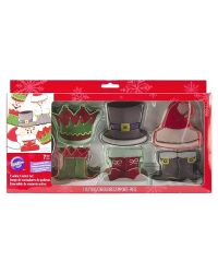 "Set 7 Cookie Cutters ""Christmas Character"" - WILTON - 6,5-7,5cm"