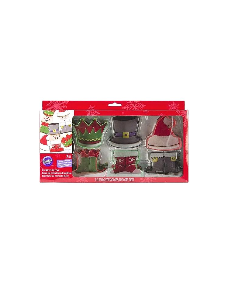 """Set 7 Cookie Cutters """"Christmas Character"""" - WILTON - 6,5-7,5cm"""