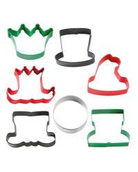 """Set 7 Cookie Cutters """"Christmas Character"""" - WILTON"""