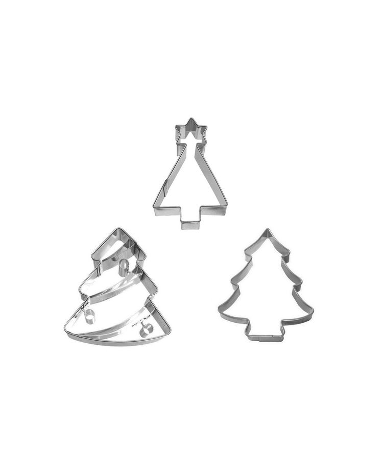 """Set 3 Cookie Cutters """"Christmas Trees"""""""
